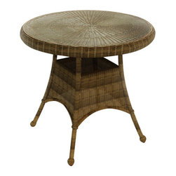 "Forever Patio - Rockport 30 in. Round Patio Dining Table, Brown Wicker - The Rockport 30"" Round Dining Table (SKU FP-ROC-30DT-CN) is perfect for intimate outdoor dinners or any patio that is short on space. Its UV-protected Chestnut wicker and round-weave design creates a warm, traditional look that is made to last. This table also includes a tempered glass top, providing a beautiful and durable surface that is easy to maintain."