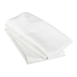 1000 Thread Count Egyptian Cotton King White Stripe Pillowcase Set - 1000 Thread Count Egyptian Cotton oversized King White Stripe Pillowcase Set