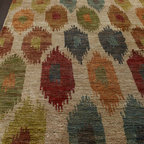"Horchow - ""Iredell Dot"" Rug - Distinguished by its plush feel and bright, bold color palette, this rug enlivens the room as it pleases the feet. Hand knotted of jute. Sizes are approximate. Imported. See our Rug Guide for tips on how to measure for a rug, choosing weaves and..."