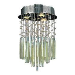 "Worldwide Lighting - Worldwide Lighting W33260C12-GT Torrent 3 Light 12"" Flush Mount Ceiling Fixture - Specifications:"