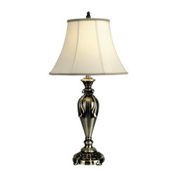 Dale Tiffany - Dale Tiffany PT90286 1 Light Fabric Table Lamp - Traditional / Classic 1 Light Fabric Table Lamp with Fabric ShadeFeatures: