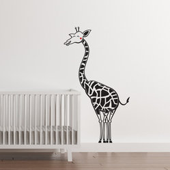 Happy Giraffe Nursery Decal