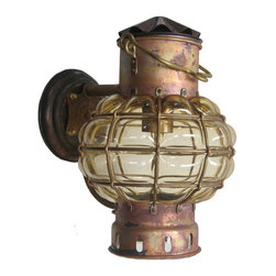 Shiplights - 'Antiqued' Bracket Globe Light (Interior & Exterior Use by Shiplights) - Our ���Antiqued�۪ Bracket Globe Light is made of solid brass/copper and can be used indoors or outdoors in a wide variety of applications.