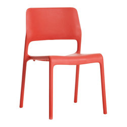 Knoll - Spark Side Chair - Simple stylish elegance that stacks away easily. Say that 10 times as fast as you can! You'll find it's easier to add or subtract one of these stackable chairs that are anything but throwaway.