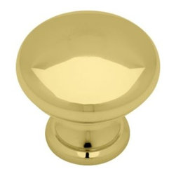 Liberty Hardware - Liberty Hardware PN2001-PB-C 0 1.24 Inch Round Knob - Polished Brass - The clean lines of this knob fit several design aesthetics including traditional and casual home decor and would be a beautiful accent to any cabinetry or furniture. Multiple finishes available. Installs easily with included hardware and is a noticeable change for any cabinetry. Width - 1.24 Inch, Height - 1.24 Inch, Projection - 1.12 Inch, Finish - Polished Brass, Weight - 0.07 Lbs.