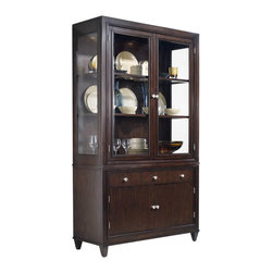 Hooker Furniture - Hooker Furniture Ludlow Bunching China Cabinet in Walnut - Hooker Furniture - China Cabinets - 103076906 - With a metropolitan and modern attitude Ludlow is distinguished by an intriquing walnut veneer story and hip fretwork detail. The architectural style of Ludlow is equaled only by its flexibility and function.