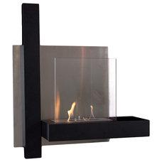 Modern Fireplaces Modern wall mounted fireplace