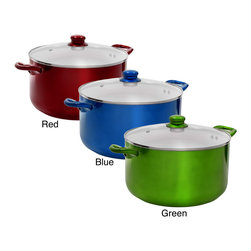 None - 10-quart Ceramic Dutch Oven - Cook your favorite stews and soups with this ceramic 10-quart Dutch oven pot and tempered glass lid,the perfect size for the whole family. The ceramic non-stick feature requires little or no oil to cook and makes cleaning fast and easy.