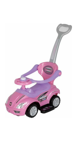 Best Ride On Cars - Best Ride On Cars 3 in 1 Riding Push Toy - Pink - 3 IN 1 PUSHCAR PINK - Shop for Tricycles and Riding Toys from Hayneedle.com! Taking walks and going out just became more fun with the 3 in 1 Push Car - Pink. This fun and sporty car allows your child to pretend to drive while you easily push it from behind. With a steering wheel that plays music your little one will love going out in their car and seeing the sites. Made for children ages one- to -three-years-old this stroller makes going anywhere more fun. Additional Features Steering wheel allows your child to drive Handle makes it easy for you to push Child can also push the car with their feet Fun sporty design About Best Ride On CarsRealizing that an active childhood leads to a long healthy life Best Ride On Cars was formed with the admirable goal of helping kids enjoy every moment of their childhood through safe and active play. Producing a huge selection of high-quality toys for all age groups Best Ride On Cars helps bring families together through interactivity. Specializing in battery operated cars jeeps motorcycles and ATVs Best Ride On Cars has also grown to develop electric scooters bounce houses and even weight scales.