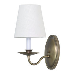 House Of Troy - House of Troy Lake Shore Wall Sconce Antique Brass X-BA-712SL - House of Troy Lake Shore Wall Sconce Antique Brass X-BA-712SL