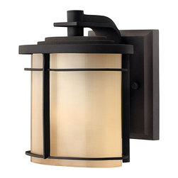 Hinkley Lighting - Ledgewood Mini Wall Outdoor Lantern - You're very selective when it comes to indoor lighting. Why should your outside be any different? These gorgeous lanterns are stately and beautiful. The etched glass casts soft light and the bronze finish gleams in the reflection.