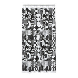 Yhdessa Shower Curtain - What I like about this shower curtain is the graphic nature of the bold pattern. It's not typically something I would source for my clients, but I appreciate its artistic qualities.