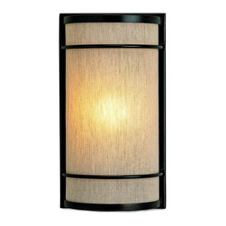 Currey and Company - Dorset Wall Sconce - Looking good but slimmed down for action, the newest collection of wall sconces from Currey & Company is designed to be compliant with Americans with Disabilities Act. The design team has created a wall sconce collection that reflects the unique Currey & Company point of view. Hand-applied finishes, natural materials and high quality fabrics are used to create a decorative, yet functional collection.