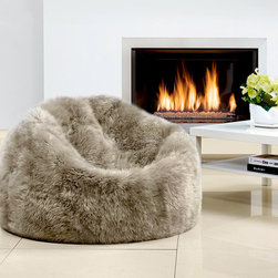 Sheepskin Bean Bag Chairs - Soft and luxurious sheepskin bean bags designed and carefully crafted to add an element of eye-catching natural texture to your home.