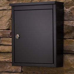 The Chelsea - The stylish Chelsea is constructed of galvanized steel and finished with a durable powder coat inside and out. The incoming slot is perfect for residents receiving larger items, such as magazines and DVDs. The storage compartment is wide and deep and is protected by a durable stainless steel cam lock with lock/unlocked indicator. To find a dealer near you please visit: http://www.architecturalmailboxes.com/where-to-buy/default.aspx