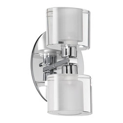 Dainolite - Dainolite 809-2W-PC 2 Light Wall Sconce Pc Finish Oval Crystal - Dainolite 809-2W-PC 2 Light Wall Sconce PC Finish Oval Crystal
