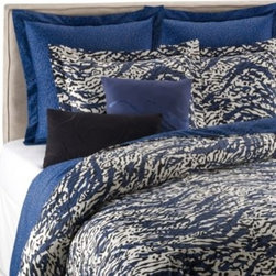 Dvf Studio? - DVF Studio Leopard Splash Duvet Cover - The Leopard Splash duvet cover features a bold and adventurous animal print in Diane von Furstenberg's iconic style, highlighted by night-time shades of navy and black that will energize your bedroom with exotic style.