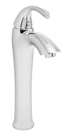 Speakman - Speakman Keila Vessel Faucet in Polished Chrome - The smooth, cylindrical frame of the Speakman Keila Vessel Sink Faucet is designed to provide a strikingly elegant fixture to your transitional bathroom decor. By combining elements of timeless style with contemporary fashion, the Keila vessel faucet is a perfect addition to a bathroom in need of a modernized, vintage appeal. Featuring lead free brass construction and a Watersense approved 1.5 gallon per minute flow rate, the Keila Vessel Sink Faucet offers safe, eco-friendly, unrivaled durability. The Keila transitional vessel sink faucet is easy to install, includes pop-up drain and is offered in Speakman's signature Polish Chrome finish to beautifully blend to existing bathroom fixtures.