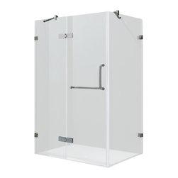 "VIGO Industries - VIGO 36 x 48 Frameless 3/8"" Clear/Brushed Nickel Shower Enclosure - Update your bathroom with this uniquely stylish and totally frameless VIGO rectangular-shaped shower enclosure"