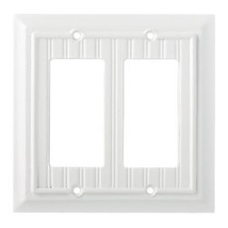 Liberty Hardware - Liberty Hardware 126469 Beadboard WP Collection 5.51 Inch Switch Plate - White - A simple change can make a huge impact on the look and feel of any room. Change out your old wall plates and give any room a brand new feel. Experience the look of a quality Liberty Hardware wall plate. Width - 5.51 Inch, Height - 5.2 Inch, Projection - 0.4 Inch, Finish - White, Weight - 0.22 Lbs.
