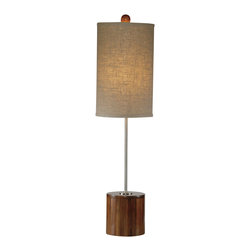 Bassett Mirror Company - Bassett Mirror L2342T Mellon Table Lamp in Chrome & Dark Bamboo - Mellon Table Lamp in Chrome & Dark Bamboo belongs to Contempo Collection by Bassett Mirror Company Bassett Mirror is fluent in this art, showing a terrific contemporary furniture that will satisfy on the one hand fans of home coziness, and on the other hand - seekers of non-standard design solutions also. One of the many strengths of the Bassett Mirror is using high quality materials for perfect embodiment of brilliant design ideas. Lamp (1)