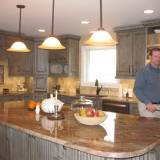 Eclectic Kitchen Cabinets by Amy Shelton