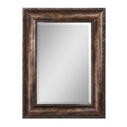 """Uttermost - Uttermost 14441 B Leola Beveled Mirror in Wood Frame - Uttermost 14441 B Grace Feyock Leola MirrorFrame features an antiqued bronze wash with gold leaf undertones, burnished details and a gray wash. Mirror has a generous 1 1/4"""" bevel.Features:"""