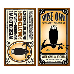 Wise Old Owl Matches - The ideal complimentary gift to give with a candle, our matches come in delightful designs to suit all tastes like these Wise Old Owl Matches. A darling graphic of an owl is printed on both sides of the box for those who admire our feathered friends that are often associated with wisdom and insight. Set these fun matches in plain view for all to admire.