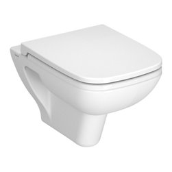 Vitra - Upscale Square White Ceramic Wall Hung Toilet with Seat - Modern white ceramic wall hung toilet for bathroom with included seat. Unique wall mounted toilet and seat is perfect for commercial or residential use. This Wall-mounted toilet has 6 liter flush volume. Requires Geberit concealed tank and carrier (ref. 111.335.00.5) and Geberit white or chrome sampa flush plate (ref. 115. 770.11.5, ref. 115.770.21.5). Made in Turkey by Vitra. Dual flush wall mounted toilet with toilet seat included. Actuator and tank must be purchased separately. Made from ceramic in a white finish. For residential or commercial bathrooms. Water-saving. Requires Geberit tank and carrier, samba flush plate. Toilet seat is not soft closing. From Vitra's S20 collection. Made in Turkey.