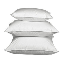 Luxury Down Pillows - Made In Hungary - A soft place to cradle your dreams....We offer an array of luxury down pillows in a variety of firmnesses.  Pillow are filled with Hungarian White Goose Down and covered with Egyptian Cotton.  Filled in and imported from Hungary.