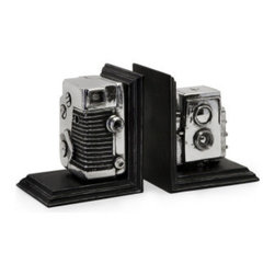 Vintage Camera Bookends - *Replicated vintage camera bookend storage boxes.