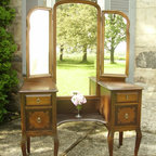 Antique Romantic Vanity with Dressing Mirror - Currently available: Gorgeous as is or have us paint it for you, check out our makeover page on our website! www.myparisapartment.ca  ~ Monica Vida of My Paris Apartment Antiques
