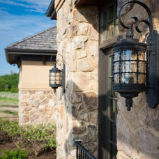 Contemporary Outdoor Lighting by Gander Builders