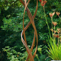"TerraSculpture ""Kismet"" - Kismet sculpture, weathered/oxidized steel, original limited edition, modern outdoor sculpture, custom sizes available, TerraSculpture.com."