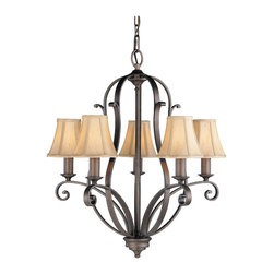 Tuscan Villa Collection 5- Light Single Tier Chandelier - Item Weight: 19.4
