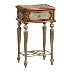 Ambella Home - Da Vinci Accent Box - Add old-world elegance to your home with this alluring accent table. Hand crafted from hardwood with beautiful burnished foil sides and cast legs, this small, splendid table will make a delightful addition to your living room or bedroom.