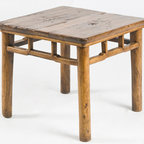 Rustic Chinese Square Stool or Low Table - Rustic Chinese Square Stool or Low Table