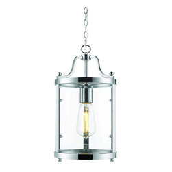 Golden Lighting - Golden Lighting 1157-M1L CH Mini Pendant - Clean, streamlined design creates an instant classic