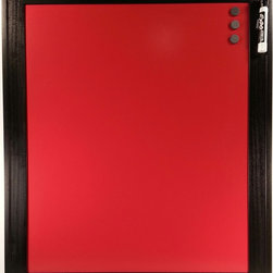 """Top of the World Innovations LLC/Retro Color Boards - Retro Color Boards-Custom Color Magnetic Dry Erase Board, Brilliant Red, 20x24 - Retro Color Boards are custom color magnetic dry erase boards with patent pending ghostbuster technology for easy cleaning with water, window or dry erase cleaner and the elimination of unsightly ghost images when used with liquid chalk or dry erase markers. Boards are magnetic 24 gauge steel and come in 5 colors (Brilliant Red, Retro Blue, Matte Black, Metallic Silver and Metallic Copper) and 4 sizes (8""""x8"""", 14""""x14"""", 10""""x30"""" and 20""""x24""""). Each board is framed with a black finished 2-inch hardwood frame and comes with saw tooth hanger, three 3/4"""" round magnets and one chisel tip black dry erase marker (excluding the matte black board). The main benefits of the Retro Color Board over other dry erase boards are optionality, elegance and durability. Our colors have been selected with your designs in mind and our frame selected to provide an elegant functional décor piece for the home, office or business. Durable hardwood construction with three v-nails in each corner and matte board backing provide exceptionally study construction designed to last."""