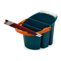 Martin Universal - Martin Universal Mijello Water Bucket - 92-WP4021 - Shop for Craft Supplies from Hayneedle.com! The Martin Universal Mijello Water Bucket comes in a 2-liter size handy for quickly cleaning brushes and palettes. Includes separate wells to soak brushes and for fresh clean water. The handle holds brushes flat to dry so bristles stay intact.About Martin Universal/F. Weber Co.For a century and a half the name Martin Universal and F. Weber Co. have been synonymous with quality art materials. Established in 1853 in Philadelphia Pa. the Martin/Weber is the oldest and one of the largest manufacturers of art materials in the United States.