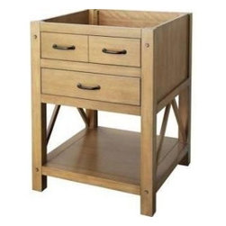Foremost - Foremost Avondale 24 in. Vanity Cabinet Only, Weathered Pine (FMAVHOS2422) - Foremost FMAVHOS2422 Avondale 24 in. Vanity Cabinet Only, Weathered Pine