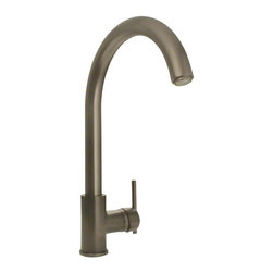 None - Sir Faucet Genuine Brass Streamlined Kitchen or Bar Faucet - Suitable for installing in a kitchen or bar sink,this streamlined faucet design includes a gooseneck spout with ample clearance for washing dishes and filling pots. A single side-mounted lever contributes to the sleek look and gives you one-hand control.