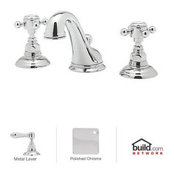 "Rohl - Rohl A1408LMAPC-2 Polished Chrome Country Bath Country Bath Low Lead - Country Bath Low Lead Widespread Bathroom Faucet with Pop-Up Drain and Metal Lever HandlesThe Rohl Country Bath collection matches a relaxed country lifestyle with refined Italian elegance. Inspired by the scenic regions of northern Italy, the Rohl Country Bath collection is also crafted there. This collection is the ideal combination of form and function. Look for a number of different variations within the Rohl Country Bath collection, with popular families like Verona, Alessandria, Hex, and Viaggio. Give your kitchen and bathroom an amazingly stylish update and upgrade with Rohl's Country Bath collection.Rohl A1408LM-2 Features:All brass faucet body construction - weight: 9 lbs.Hand-machined from solid brass stockIndustry leading, 1/4 turn lifetime ceramic disc valveSuperior finishing process – chemical, scratch, and stain resistantNumber of installation holes required: 3Installs onto decks up to 1-27/32"" thickMetal lever handles includedOverall height: 4-7/8"" (measured from counter top to highest point of faucet)Spout height: 3-5/16"" (measured from counter top to faucet outlet)Spout reach: 4-15/16"" (measured from center of faucet base to center of faucet outlet)Low lead compliant – complies with federal and state regulations for lead contentDesigned for use with standard U.S. plumbing connectionsExtra secure mounting assemblyAll necessary mounting hardware includedFully covered under Rohl's limited lifetime warrantyManufactured in New Zealand, Western Europe, and/or North AmericaVariations:A1408LM-2 - This modelA1408LC-2 - Same model with Swarovski crystal lever handlesA1408LP-2 - Same model with porcelain lever handlesA1408LPBK-2 - Same model with black porcelain lever handlesA1408XC-2 - Same model with Swarovski crystal"