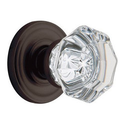 Full Dummy Filmore Crystal Knob With Classic Rose, Oil-Rubbed Bronze - Bronzed and beautiful, this knob evokes a classic American feel. It would look gorgeous on doors of all colors.