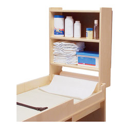 Steffywood - Steffywood Home Office Changing Table Paper Roll Holder Cabinet - Convenient storage cabinet mounts on either end of changing tables.  Paper roll included.  No mounting hardware necessary.