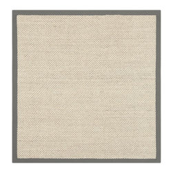 Safavieh - Hand-woven Resorts Natural/ Grey Fine Sisal Rug (6' Square) - Innately soft and durable rug will add a warm feel to any home decor. Floor rug is hand-woven of natural fibers. Sisal rug features a casual motif.