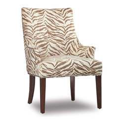 Hooker Furniture - Zoey Accent Chair - Zebra pattern. Four tack in floor glides. Upholstered seat and back. Nailhead trim. Tapered legs. 29.5 in. W x 25 in. D x 37.75 in. H