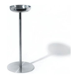 Alessi - Alessi Wine Cooler Stand - When you run out of counter or table space a wine cooler stand will sure come in handy. The chic, stainless steel is ideal for holding your wine bucket. Move it around the room so your favorite bottle is always within reach.