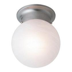 Trans Globe Lighting - Trans Globe Lighting 3606 Single Light Down Lighting Flush Mount Ceiling Fixture - Single light flush mount ceiling fixture featuring opal glassRequires 1 60w Medium Base Bulb (Not Included)