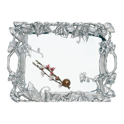 Arthur Court - Butterfly Clutch Tray - This beautiful tray is a polished performer when it comes to entertaining. It creates a brilliant showcase for presenting everything from drinks before the meal to dessert plates and coffee afterwards. In fact, you'll find yourself bringing it back for multiple encores throughout your party.